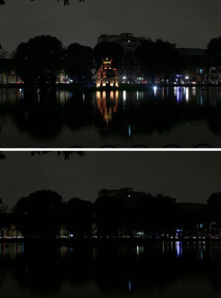 Ханой, столица Вьетнама вовремя «Часа Земли».