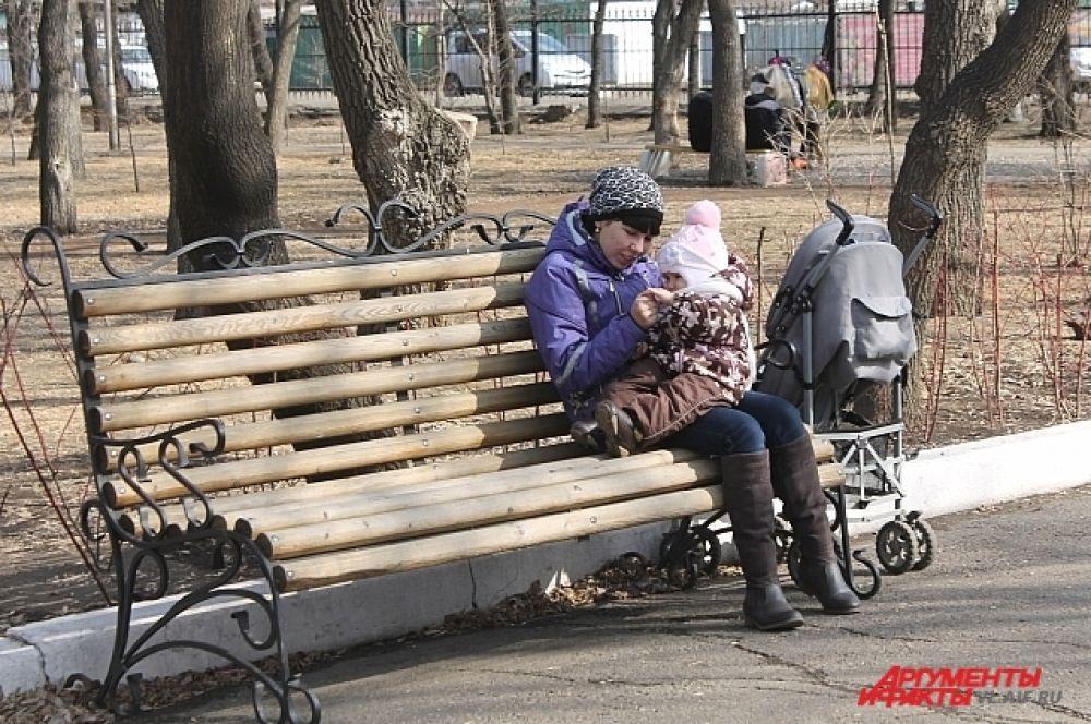 В тиши парка и дети себя ведут потише.