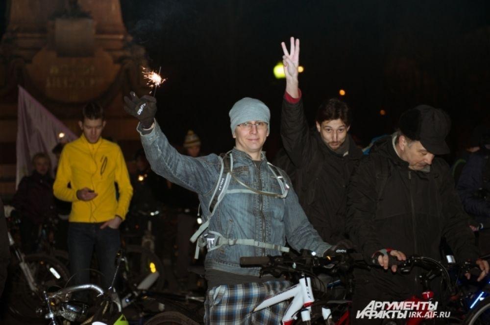 Далее путь продолился. Участники заезда прибили на бульвар Гагарина.