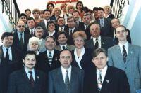 Депутаты и аппарат Омского горсовета первого созыва, апрель 1998 год.