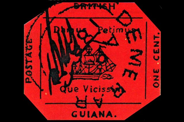 Поздняя реконструкция «Британской Гвианы» (отчётливо видны все надписи и детали рисунка).