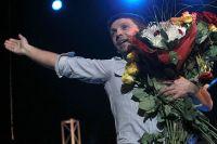 Леонид Барац в юбилейном концерте театра «Квартет И». 2011 год.