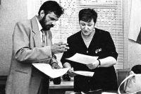 Рабочие будни конца 90-х: с Галиной Старовойтовой.