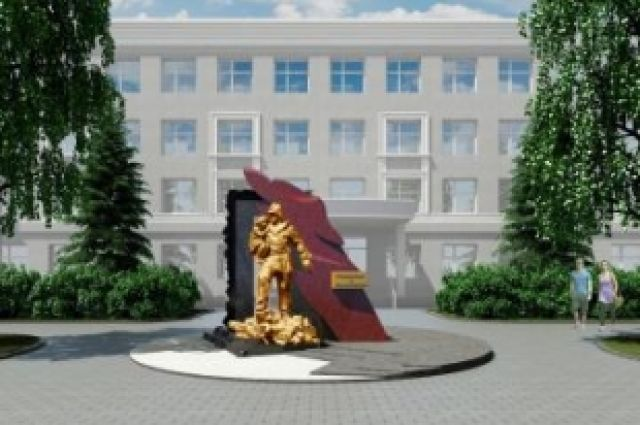 Макет памятника.