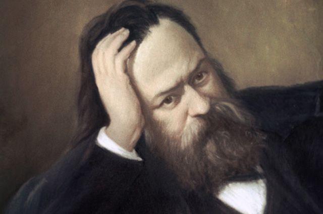 Репродукция портрета Александра Герцена работы художника С. Скульского.