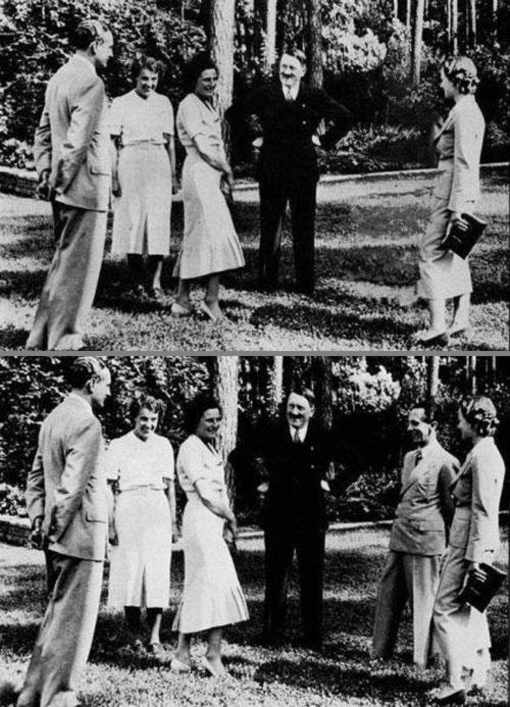 В фашистской Германии с одного из популярных снимков с участием Адольфа Гитлера и его окружения исчез Йозеф Геббельс. Неизвестно, по какой причине это было сделано.