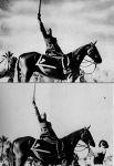 В Италии в целях пропаганды режима Бенито Муссолини был распространён снимок, где лидер фашистов грозно восседает на коне. Перед этим с фотографии был убран помощник, державший лошадь, чтобы образ Муссолини выглядел более героическим.