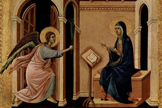 «Маэста». Дуччо (фрагмент). 1308-1311 годы.