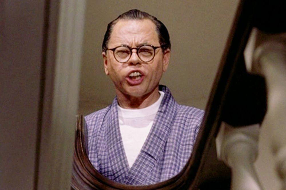 В знаменитой комедии Блэйка Эдвардса «Завтрак у Тиффани» по роману Трумэна Капоте Микки Руни сыграл роль карикатурного японца мистера Юниоши. Позже этот образ часто подвергался критике, тем не менее фильм в пяти номинациях получил два «Оскара».