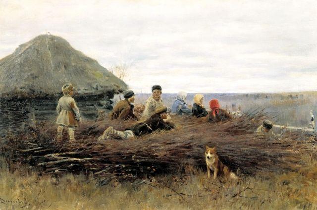 А. С. Степанов. Дети на хворосте. 1899.