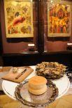 Хлеб и вино для приготовления евхаристии в преддверии Патриаршего служения в праздник Благовещения Пресвятой Богородицы.