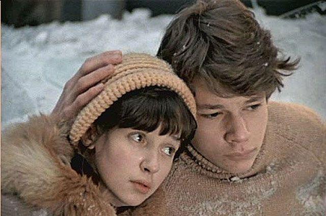 Татьяна Аксюта и Никита Михайловский в фильме «Вам и не снилось». 1980 год.
