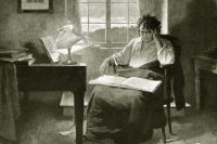 Людвиг ван Бетховен в своём кабинете. Не позднее 1924 года.
