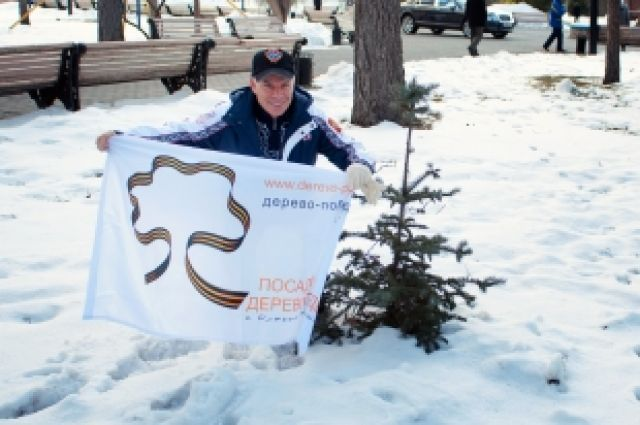 Олег Газманов  вместе с воспитанниками детских домов посадил голубые ели