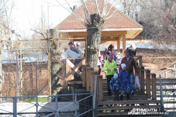 С ранней весны ростовский зоопарк привлекает и взрослых, и детей.