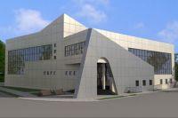Так здание бассейна будет выглядеть уже в июне текущего года.