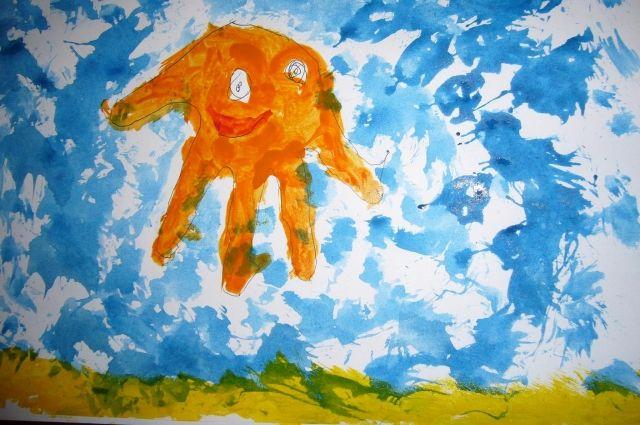 Рисунок Анастасии Гусевой «Добрый осьминог»