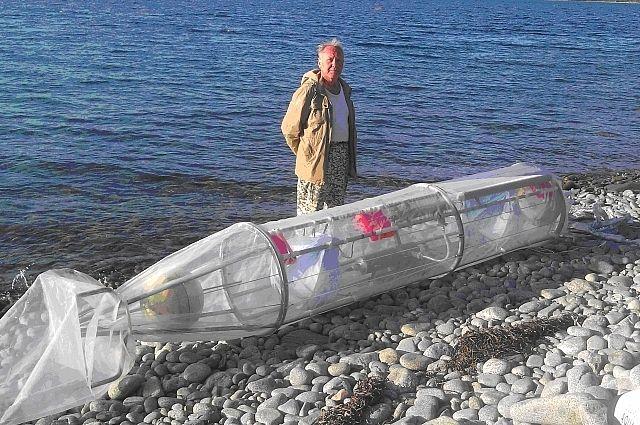 В. Щуров перед запуском суперсовременной российской подводной векторной техники.
