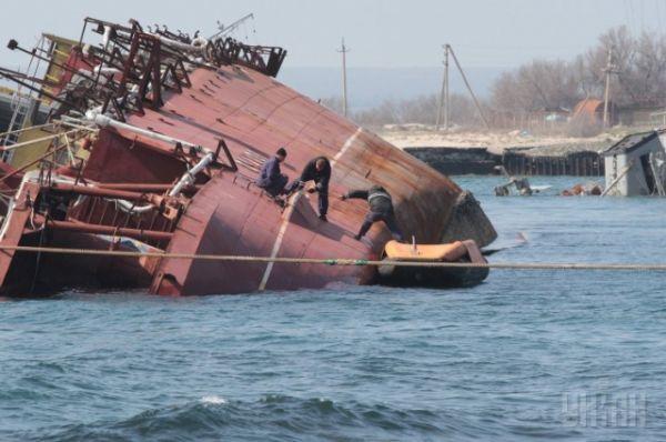 Затопленный корабль «Очаков»