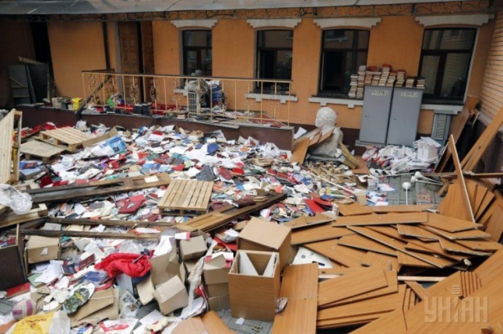 Разгромленный офис КПУ