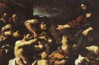 Фрагмент картины Гверчино «Воскрешение Лазаря». 1619 год.