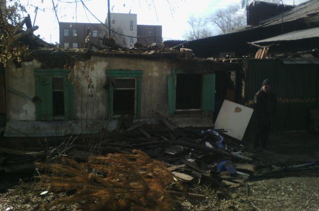 Дом горел на площади 150 кв. метров.