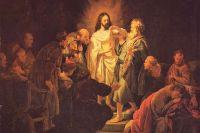 Неверие святого Фомы. Рембрандт, 1634, Москва, ГМИИ им. А. С. Пушкина.