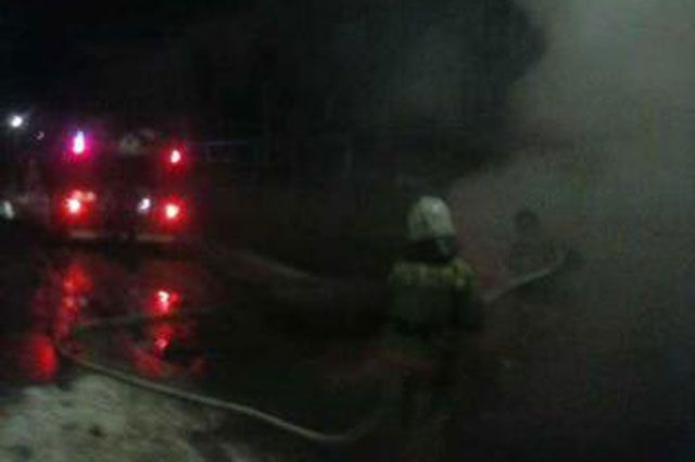 Во время пожара в грузовике никто не пострадал.