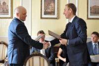 Виктор Назаров и Вячеслав Воробьев подписали соглашение о сотрудничестве.