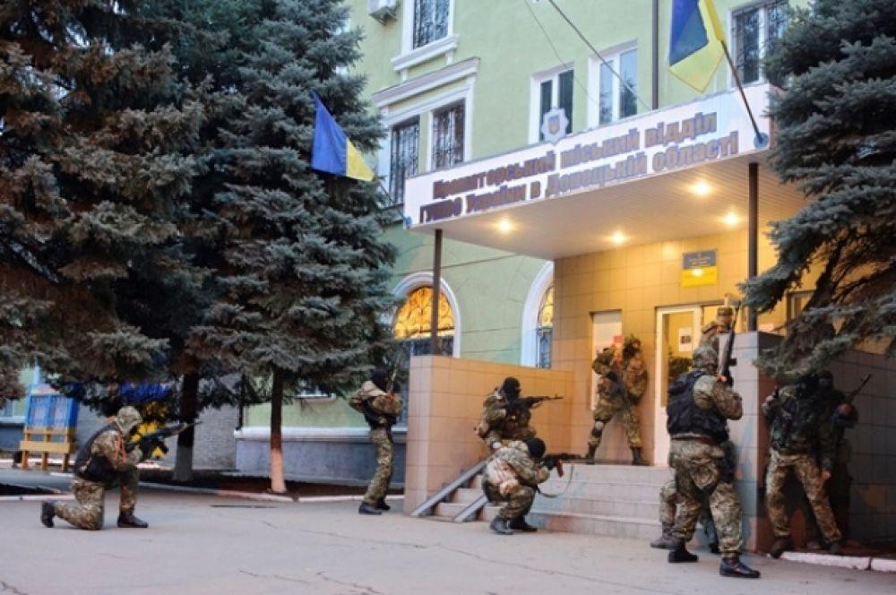 Сепаратисты в Краматорске