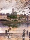 В 24 года Александр Бенуа впервые попробовал себя в качестве теоретика и историка искусства – он написал несколько статей о русских художниках для немецкого альманаха о живописи XIX века.