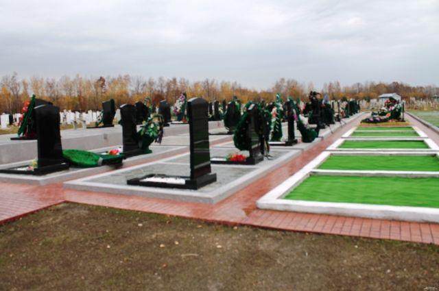 Один из участков хабаровского кладбища
