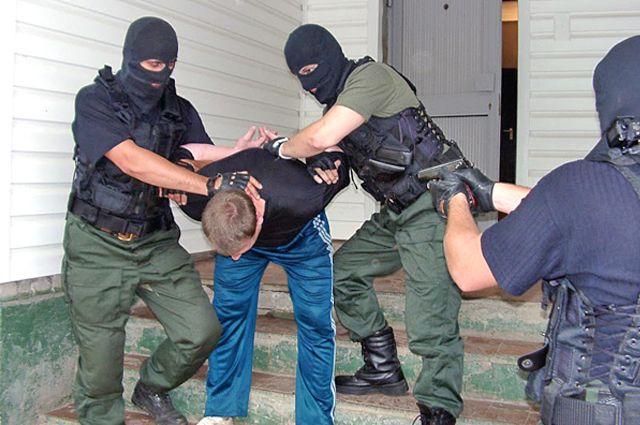 Задержание преступника.