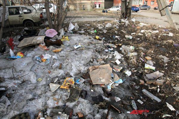 Сколькобы не было контейнеров для мусора на улицах Челябинска, мусорят все равно сами жители. А, следовательно, воспитание у нас еще на недостаточном уровне. Пробел в этом призваны устранить общегородские субботники. Улица Российская ,63