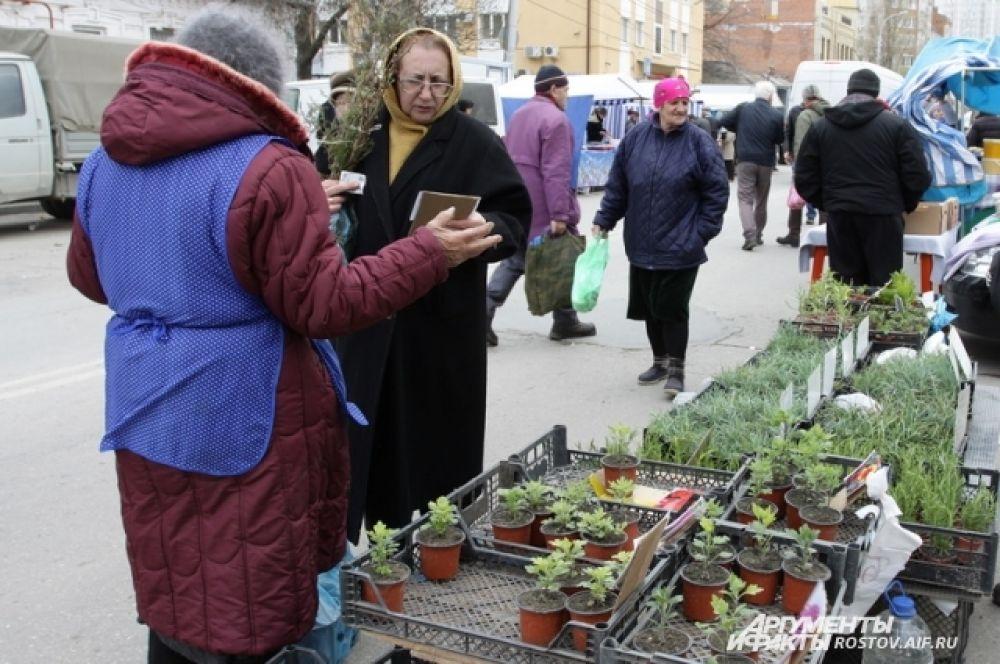 Комнатные растения и товары широкого спроса - тоже в продаже.