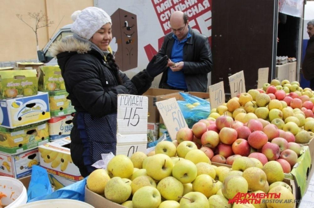 Офощи и фрукты здесь всегда дешевле магазинных.