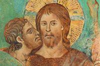 «Поцелуй Иуды». Чимабуэ, конец XIII века.