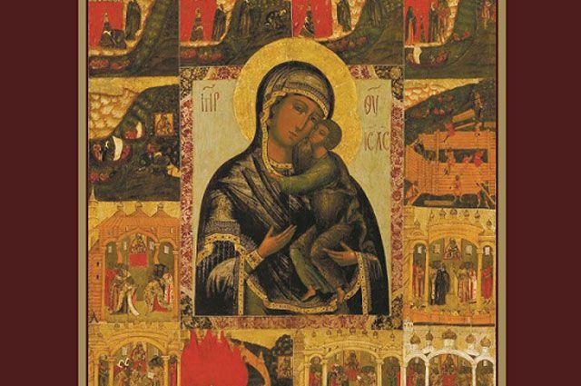 Изображение Тихвинского Богородицкого монастыря, виды Святой Афонской горы, Саровской пустыни продемонструруют в Иркутске.