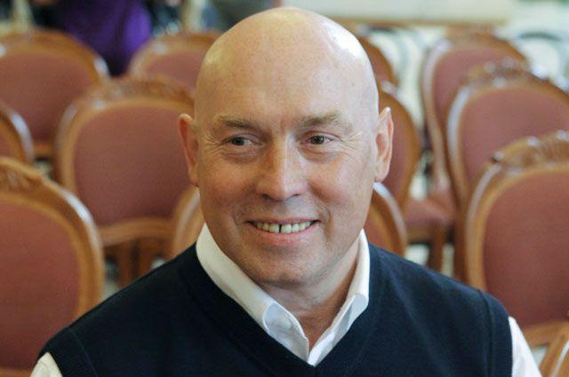 Виктор Сухоруков на традиционном сборе труппы Театра имени Моссовета перед началом нового сезона.