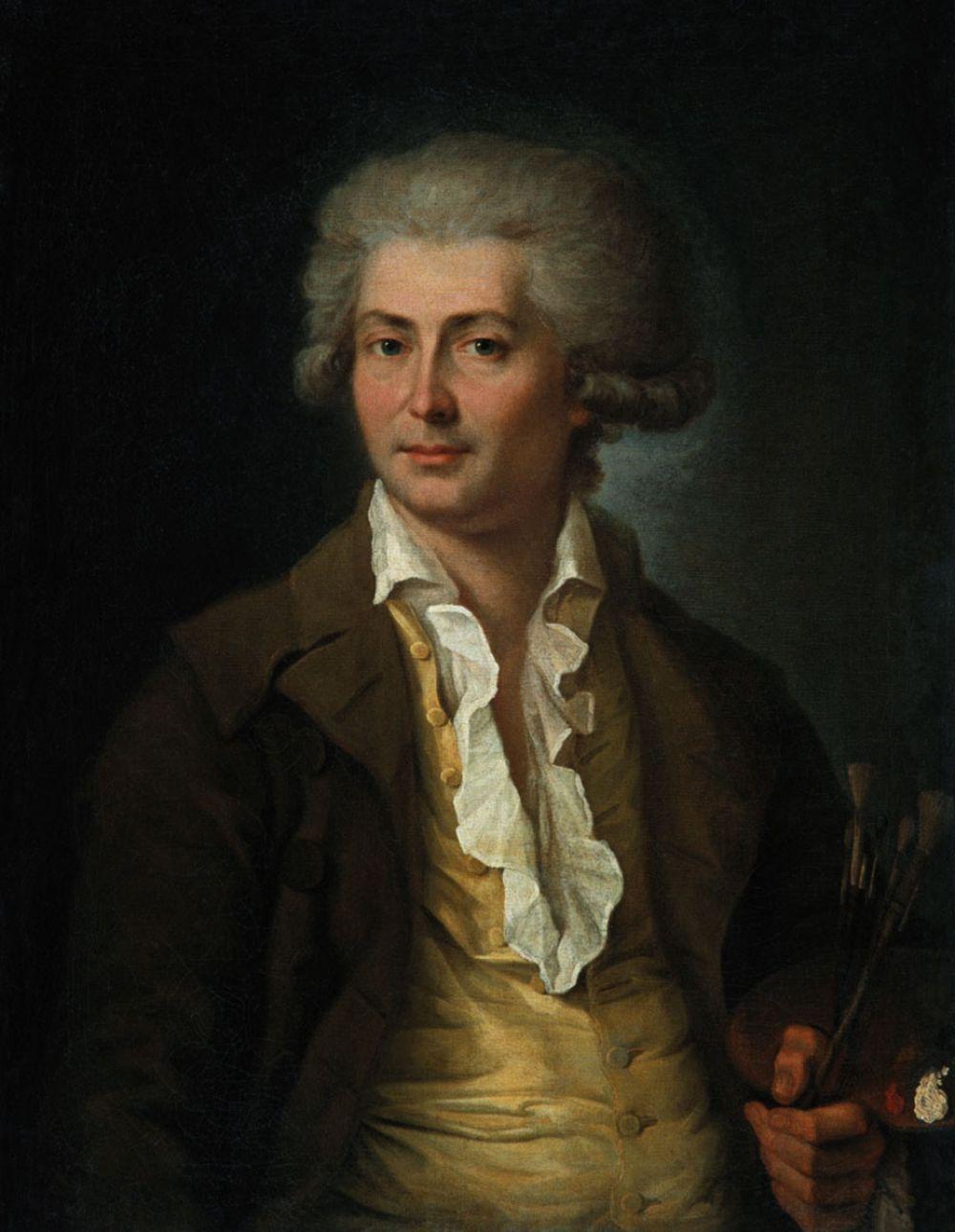 Будущий художник родился в Санкт-Петербурге в 1745 году в семье солдата лейб-гвардии Преображенского полка. В 15 лет был принят в воспитанники Императорской Академии художеств, где по окончании обучения был удостоен малой золотой медали, и, ввиду выдающихся способностей, был отправлен в заграничную поездку как академический пенсионер для дальнейшего совершенствования в живописи. Путешествовал и проживал во Франции и Италии.