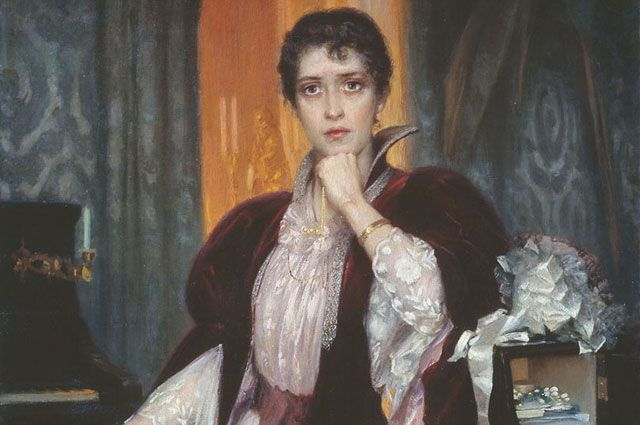 Анна Каренина на картине Генриха Манизера. Не позднее 1925 года.