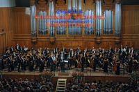 Оркестр Мариинского театра во главе со своим главным дирижером, организатором Пасхального фестиваля Валерием Гергиевым. 2009 год.