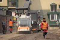 Первый двор начали ремонтировать на улице Безбокова.
