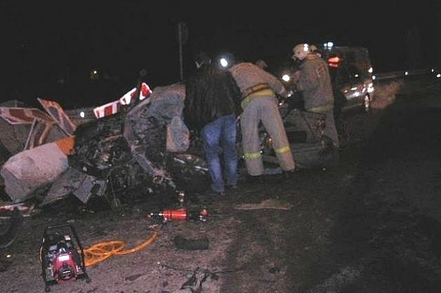 Утром 18 апреля в Заокском районе столкнулись Opel и KIA