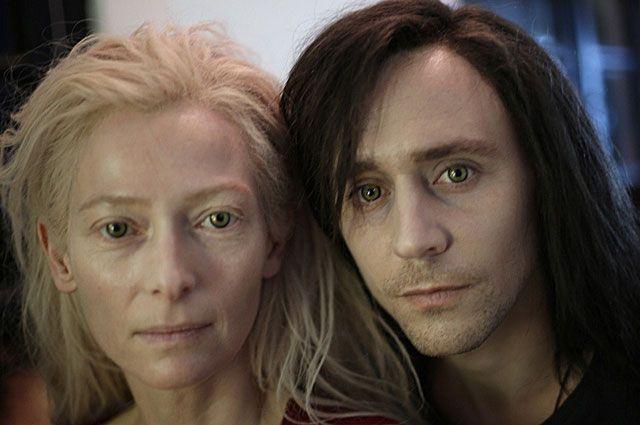 Тильда Суинтон и Том Хиддлстон. «Выживут только любовники». 2013 год.