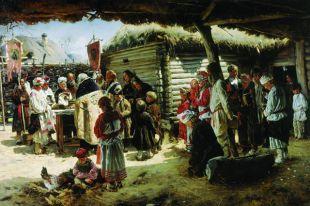 Владимир Маковский. «Молебен на Пасху». 1887-1888 годы.