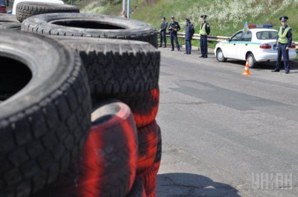 Блокпост на въезде в Черкассы