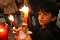 Благодатный огонь из Иерусалима в Москве