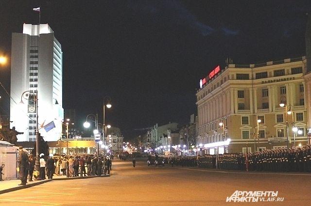 Для репетиции парада Победы улицу Светланскую перекроют.