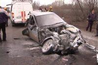 После удара с ВАЗ-2109